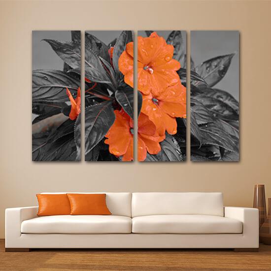Оранжево цвете